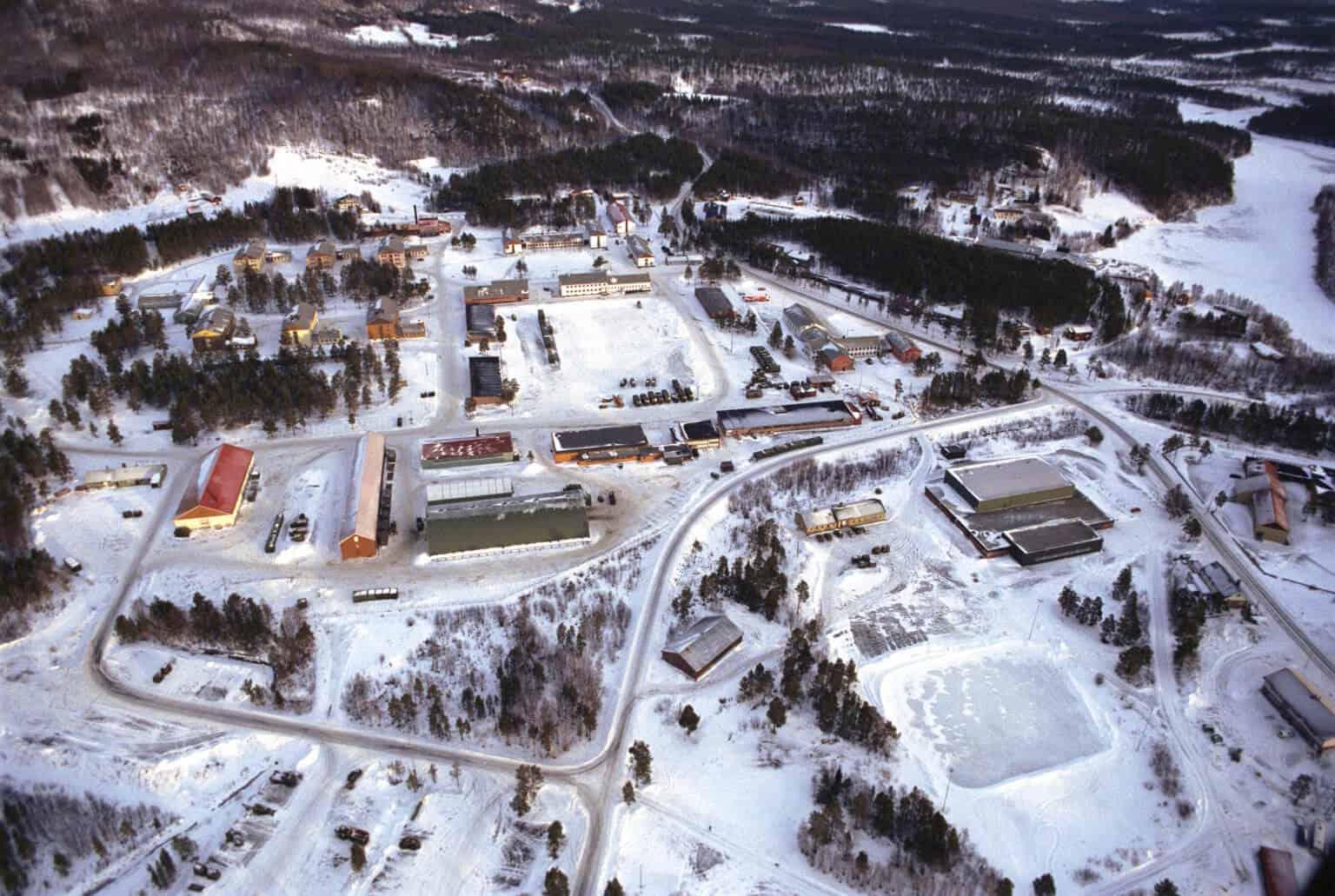 Luftfoto av Skjold garnison. Foto: Forsvaret/Bjørn Harry Schønhaug
